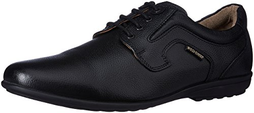 Red Chief Men's Black Leather Formal Shoes - 9 UK/India (43 EU)(RC1329A)