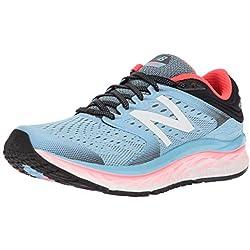 New Balance 1080v8, Zapatillas de Running para Mujer, Azul Clear Sky/Vivid Coral/Black, 37 EU
