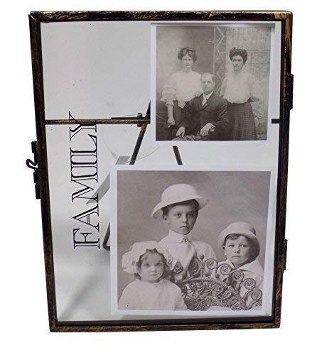 Notleidende Metall Glas Familie Bilderrahmen Fotorahmen 4