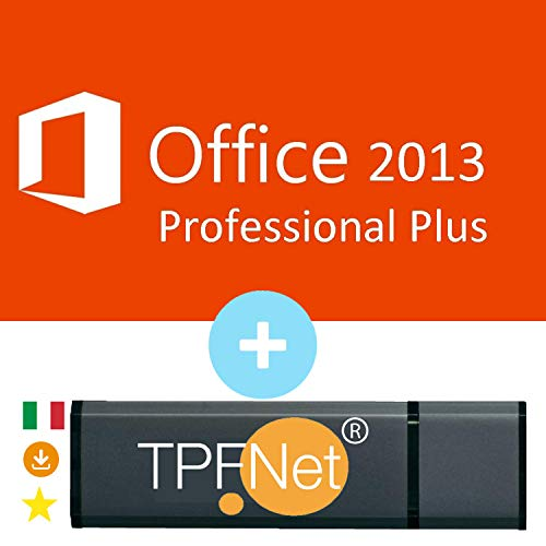 MS Office 2013 Professional Plus 32 bit & 64 bit - Licenza Originale con una Chiavetta USB di TPFNet