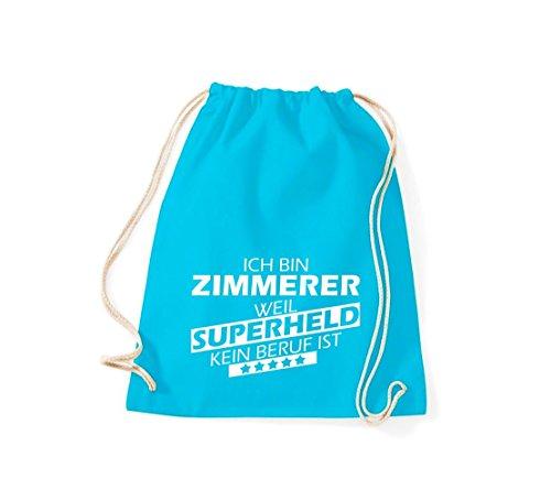 Shirtstown Sac de sport Ich bin Salle, parce que Superheld aucun Occupation est turquoise