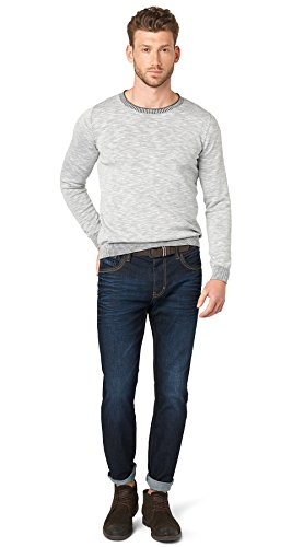 TOM TAILOR Herren Jeanshose Jeans Uni 1/1 Marvin Straight, Blau (Dark Stone Wash Denim 1053), W31/L34 (Herstellergröße: 31)
