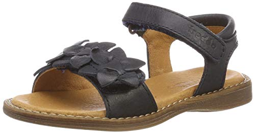 Froddo Mädchen G3150128-7 Girls Peeptoe Sandalen, Blau (Dark Blue I17), 35 EU Elegante Gold Open Toe
