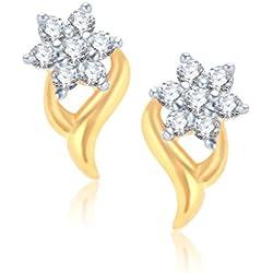 Vina Fashion Jewellery Jewellery Gold Brass Alloy Cz American Diamond Earring for Women Vker1017Ga