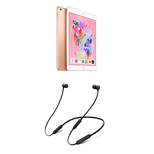 Apple iPad (Wi-Fi, 128GB) - Oro + BeatsX Auricolari - Nero