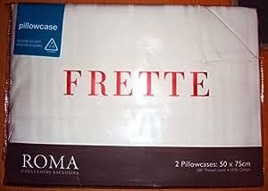 Frette Roma Collezione Esclusiva Paire de taies d'oreiller 50x75cm Ivoire