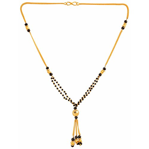 Parinaaz Traditional Jewellery Ethnic Gold Plated Mangalsutra Pendant with Chain for Girls