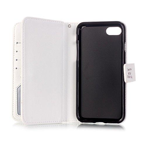 TIODIO® Housse en cuir Pour Apple iphone 7/ iphone 7G PU étui en cuir / case/ coque/ cover/ housse avec la fonction de stand+1 x Stylet+1 x film de protection d'écran, B05 B03