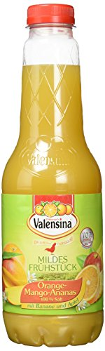 Valensina Orange- Mango-Ananas 100%, 6er Pack (6 x 1 l Flasche)