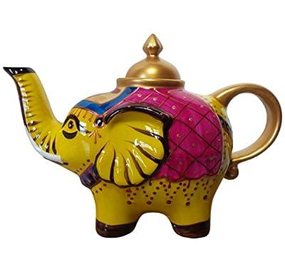 Éléphant-verseuse design: jaune-théière en porcelaine avec couvercle 0,8 l 182