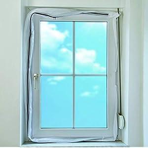 Eycos AL300 Fensterabdichtung für Abschluftschlauch von Klimageräten, Airlock geeignet für Fenster Maximalumlauf von 400cm