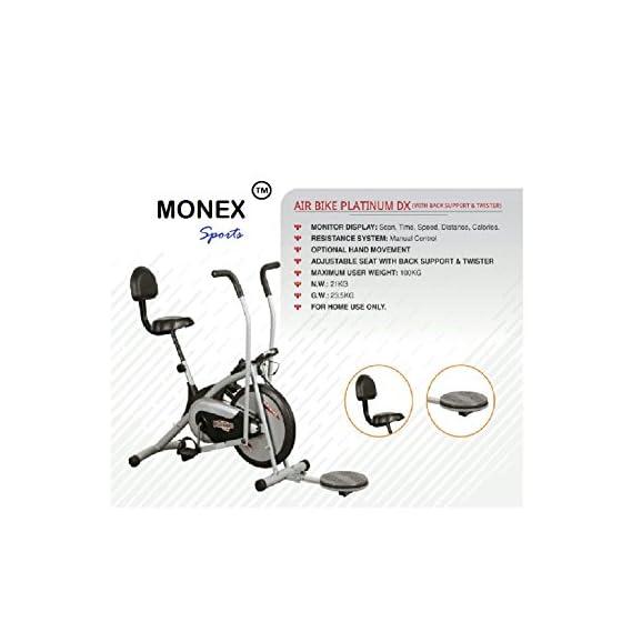 Monex Body Gym Air Bike Platinum DX (with Back Support & Twister)