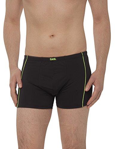 Herren Retro-Pants aus Microfaser, Pants für Männer, Shorts Herren, 4er Pack von Größe 5/M bis14/6XL - Frank Fields, Farbe:grün, Größe:9