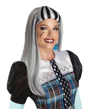 Monster High Damen Perücke Frankie Stein Karneval Halloween
