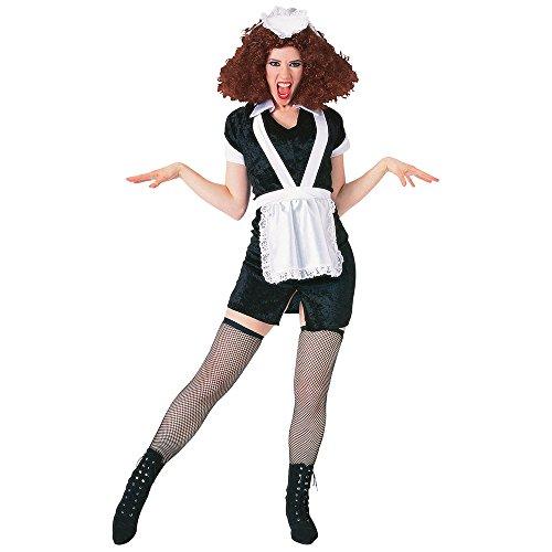 Magenta Schürze Kostüm - Bristol Novelty AC303 Magenta Kostüm, Medium, Damen, Mehrfarbig, M