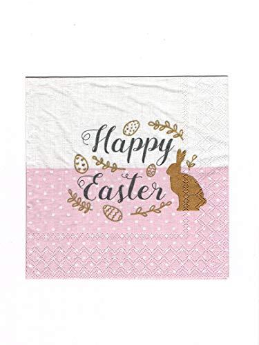 Ambiente tovaglioli di carta - tovaglioli lunch/party/ca. 33 x 33 cm embroidery easter rose - pasqua - ideale come regalo e decorazione da tavolo