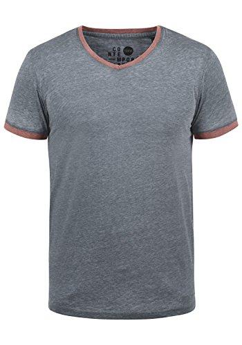 !Solid Thelo Herren T-Shirt Kurzarm Shirt Mit V-Ausschnitt, Größe:L, Farbe:Insignia Blue (1991)