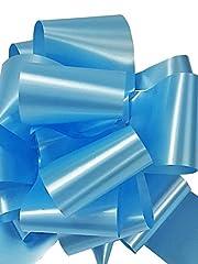 Idea Regalo - Star New Flower Spa Fiocco Rapido Azzurro Celeste 50 mm (50 Pezzi) Addobbi Decorazioni Nascita Bimbo