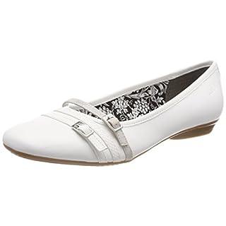 s.Oliver Damen 22110 Geschlossene Ballerinas, Weiß (White), 39 EU