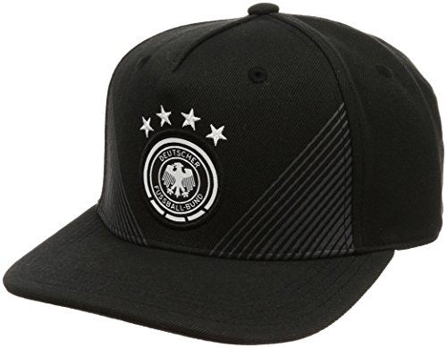 adidas Kinder DFB Home Flat Brim Kappe, Black/Dark Grey Heather, OSFY