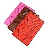 Scdincier Weihnachtshaus Schokoladenform DIY Lebkuchenhaus Silikon Backform