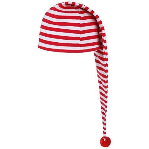Schlafmütze (One Size - rot) - Junge Im Gestreiften Pyjama Kostüm