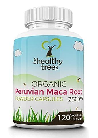 Gélules de poudre de Maca BIO 2500mg   Riche en vitamine B1, B2, B6, calcium, (Maca Zinco Vitamine)