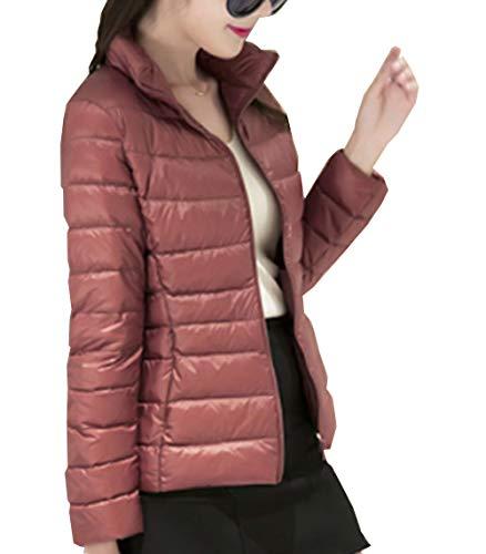yanghuakeshangmaoyouxiangong Ultraleichte Daunenjacke Für Damen Mit Stehkragen Kurze Koreanische Zip-Jacke Für Damen