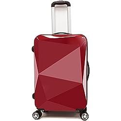 PARTYPRINCE Equipaje grande 4 ruedas ABS+PC ligera 68x40x26 cm diamante maleta viaje 20097