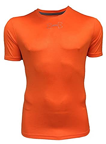 Under Armour Mens HeatGear New Tech Short sleeve Tee Shirt, Team Orange, Small
