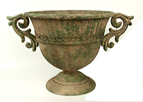 Unbekannt Metall Amphore im antiken Landhausstil S Blumentopf Pflanztopf Pflanzschale