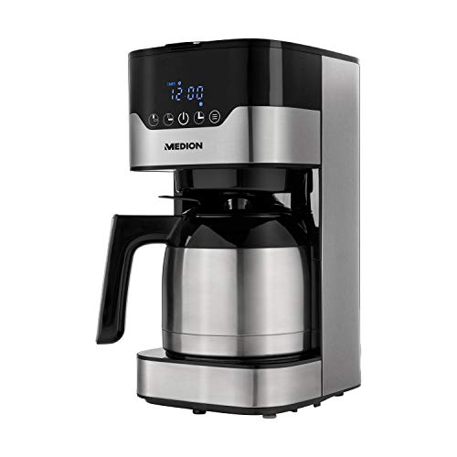 MEDION Kaffemaschine mit Thermoskanne und Timer (Filtermaschine, 8-10...