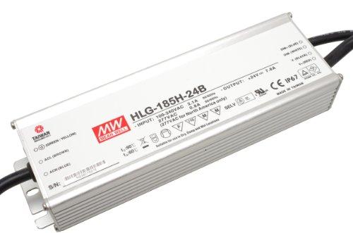 Controlador LED de intensidad regulable fuente de alimentación LED MeanWell HLG-185H - 24B 185 W 24 V/DC 7,7 A de suministro constante
