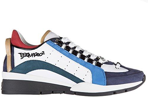 Dsquared2 scarpe sneakers uomo in pelle nuove 551 bianco EU 43 SN17SN404 1110 M1126