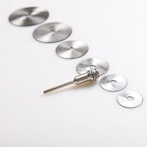 atoplee 61/20,3cm Schaft High Speed Stahl Mini Kreissägeblätter mit spannfuttern für Dremel Rotary Werkzeug