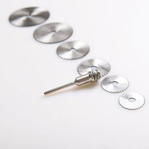 Preisvergleich Produktbild atoplee 61/20,3cm Schaft High Speed Stahl Mini Kreissägeblätter mit spannfuttern für Rotary Werkzeug