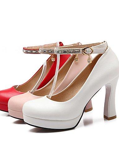 WSS 2016 Chaussures Femme-Bureau & Travail / Décontracté-Rose / Rouge / Blanc-Gros Talon-Talons / Bout Arrondi-Talons-Polyuréthane pink-us9 / eu40 / uk7 / cn41