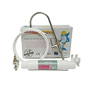 Water2Buy Undersink Drinking Water Filter System - Swan Neck Sink Water Filter - Complete Water Tap Filter Kit for Homes - Easy DIY Installation