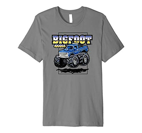 BIGFOOT 4x4x4 Cartoon Truck T-Shirt (color options 2) (Bigfoot-cartoon)