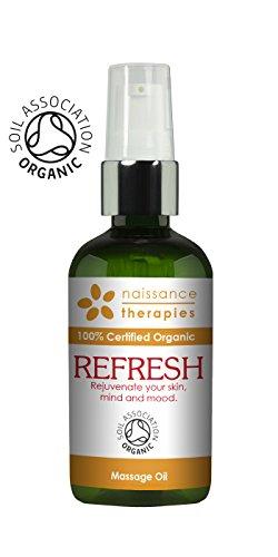 Naissance Refrescante - Aceite de Masaje BIO 100ml - Certificado Ecológico - con aceite de argán...