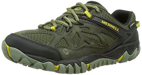 merrellall-out-blaze-vent-gore-tex-zapatos-de-low-rise-senderismo-hombre-verde-oliva-talla-445-eu