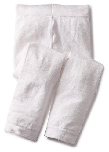 Jefferies Socks Baby Girls' Footless Tight, White, 18 24 Months