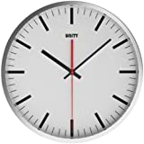 unity abberton silent sweep wall clock white