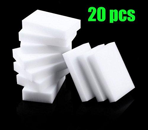 20Magic goma de borrar esponjas de limpieza casi todas las superficies–blanco cocina limpieza esponja–esponja para limpiar el coche–sin productos químicos limpiador de manchas y Mark Retiro
