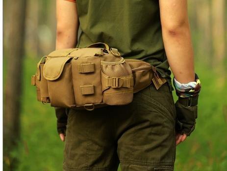 Zll/Outdoor Tactical Pocket Light Kavallerie Mobile Pocket Multifunktions Dual Wasser Flasche Taschen Große Brust für Damen und Herren Jungle-Grün
