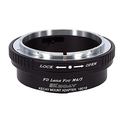 KECAY® Lente mount Adattatore Canon FD FL Mount Lente to Micro 4/3 Four Thirds System Camera, Olympus E-P1, P2, P3, P5, E-PL1, PL1s, PL2, PL3, PL5, PL6, E-PM1, PM2, OM-D, E-M5, E-M1, Panasonic Lumix DMC-GH1, GH2, GH3, GX7, G1, G2, G10, G3, G5, G6, GF1, GF2, GF3, GF5, GF6, GX1, GM - Gm Corpo