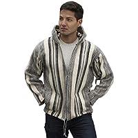 Gamboa - Giacca in Alpaca per Uomo - con Cappuccio - Design a Righe