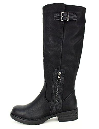Cendriyon Botte Noire Cavalière Season Chaussures Femme
