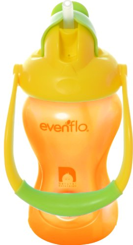 evenflo-advanced-straw-cup-with-swinging-handle-yellowithorange-8-ounce