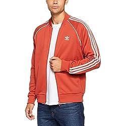 Adidas SST Originals Track Chaqueta Para Hombre Impermeable Color Naranja Tamaño Extra-Large
